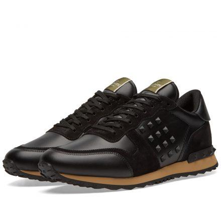 Valentino Rockrunner Sneaker (Black)