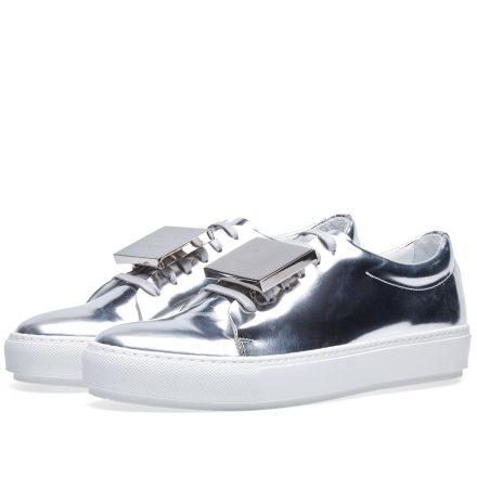 Acne Studios Women's Adriana Metallic Sneaker (Silver)