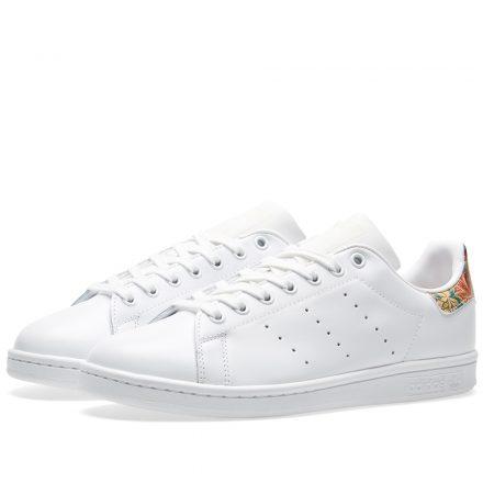 Adidas Women's Stan Smith Floral W (White)
