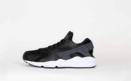 Nike Air Huarache Run Premium Black/Dark Grey White