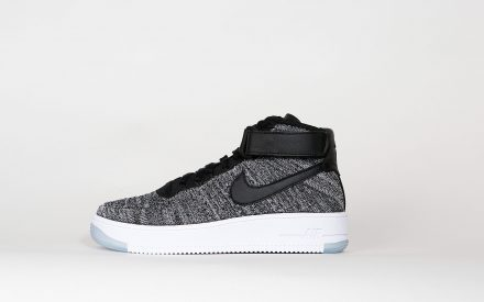 Nike Womens Air Force 1 Flyknit Black/Black White