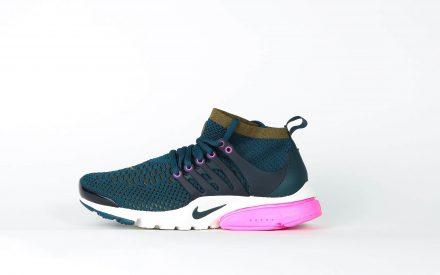 Nike Wmns Air Presto Flyknit Ultra Midnight Turqouise/Olijf groene Flak Roze Blast