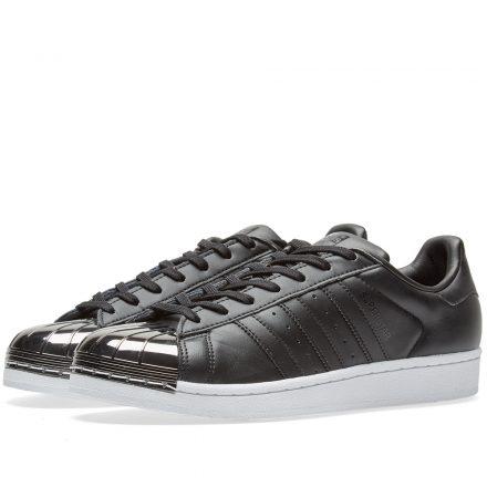 Adidas Women's Superstar Metal Toe W (Black)