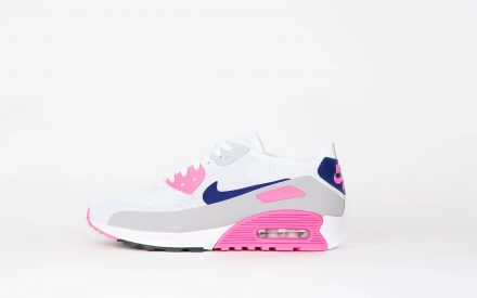 Nike Wmns Air Max 90 Ultra 2.0 Flyknit White/Concord Laser Roze Black
