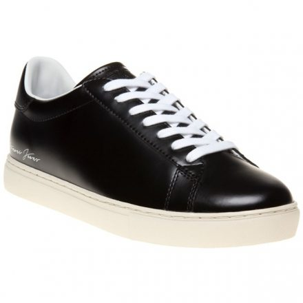 Armani Jeans Signature Low Top Trainers (zwart)
