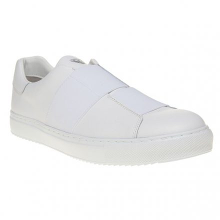 Armani Jeans Cross Strap Slip On Trainers (wit)