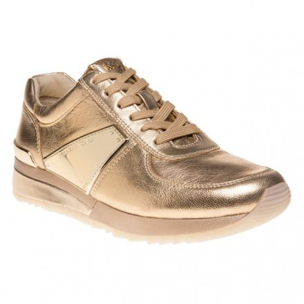 Michael Kors Allie Plate Wrap Trainers (goud)