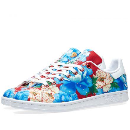 Adidas Women's Stan Smith Floral W (Blue)