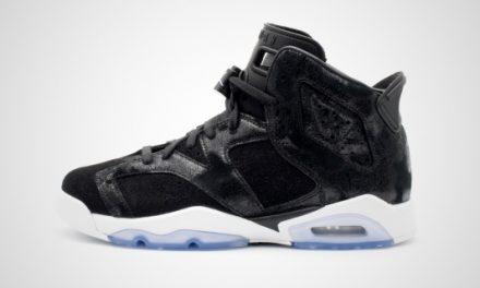 "Air Jordan 6 Retro PRM Heiress GG ""Black Suede"" Sneaker"