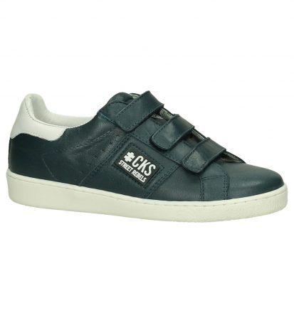 Donker Blauwe Klittenband Sneakers Cks Cobrie