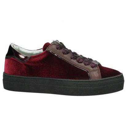 Hip Sneakers Velours Bordeaux