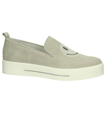 Louisa Piper Licht Grijs Slip-On Sneakers