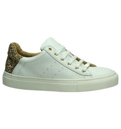 Hampton Bays Witte Sneakers met Gouden Glitters
