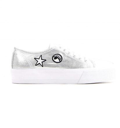 Zilveren Sneakers met patches Hampton Bays
