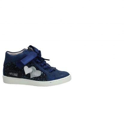 Blauwe Hoge Sneaker met Glitters Le Chic