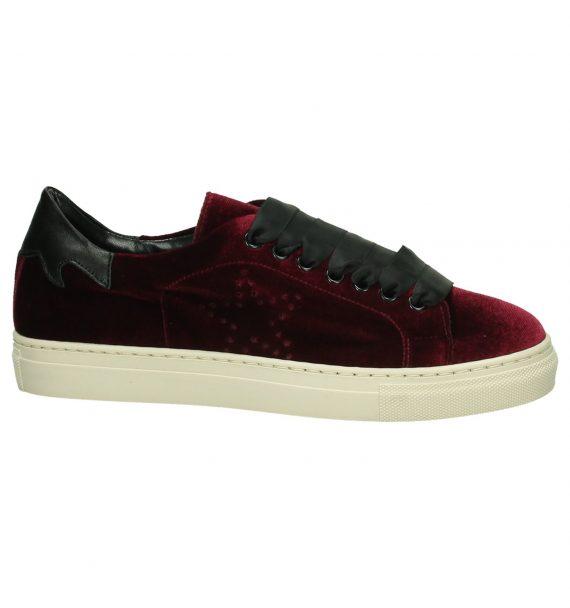 Bordeaux Velours Sneaker Gio+
