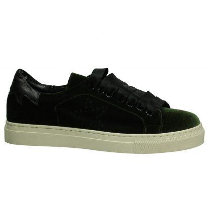 Gio+ Sneaker Kaki met Velours