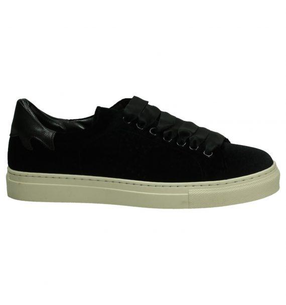 Zwarte Velours Sneaker Gio+