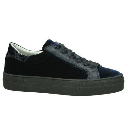 Blauwe Velours Hip Sneakers