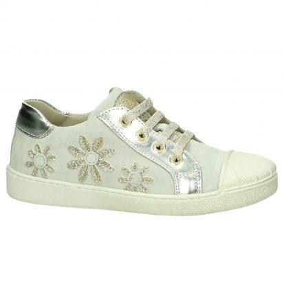 Beige Sneaker met Bloemenprint Lunella