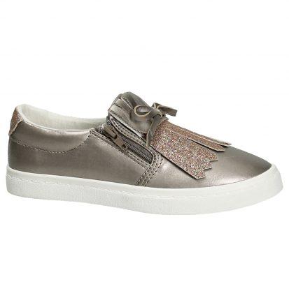 Kipling Buffy Taupe Slip-On Sneakers