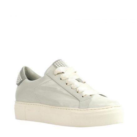 Maripe leren platform sneakers (wit)