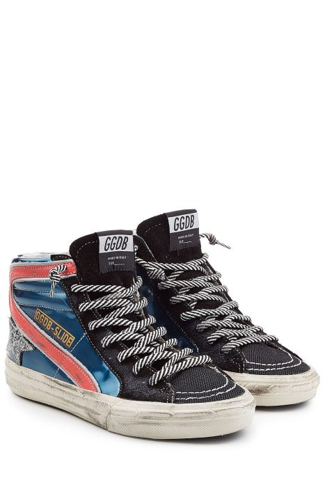 Golden Goose Leather High-Top Sneakers (multicolor)