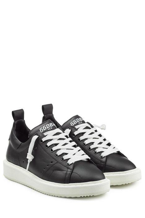 Golden Goose Starter Leather Sneakers (zwart)