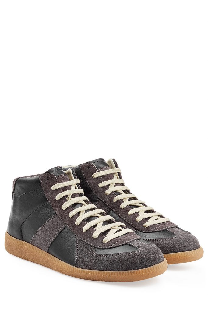 Maison Margiela Leather Replica Sneakers (zwart)