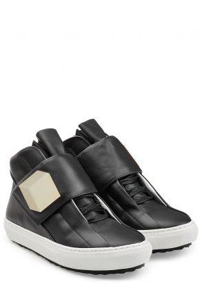 Pierre Hardy Leather Sneakers (zwart)