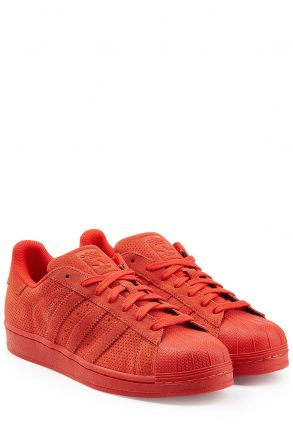 Adidas Originals Superstar Leather Sneakers (rood)