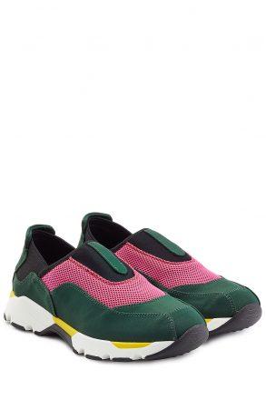 Marni Fabric Slip-On Sneakers (groen)