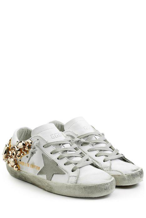 Golden Goose Super Star Suede Sneakers (wit)