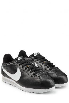 Nike Classic Cortez Leather Sneakers (zwart)