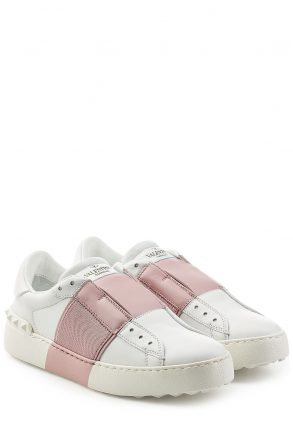 Valentino Open Leather Sneakers (wit)