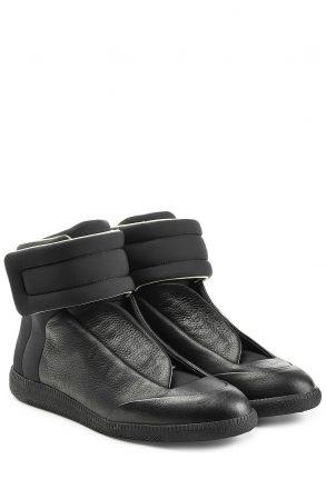 Maison Margiela Future Leather Sneakers (zwart)