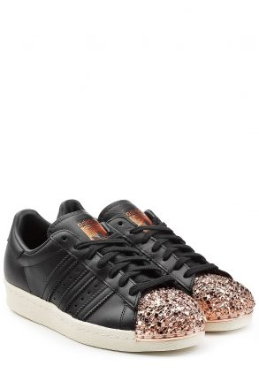 Adidas Originals Superstar 80s Leather Sneakers (zwart)