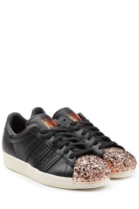 Adidas Originals Superstar 80s Leather Sneakers (zwart)