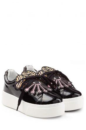 Kenzo Patent Leather Platform Sneakers (zwart)