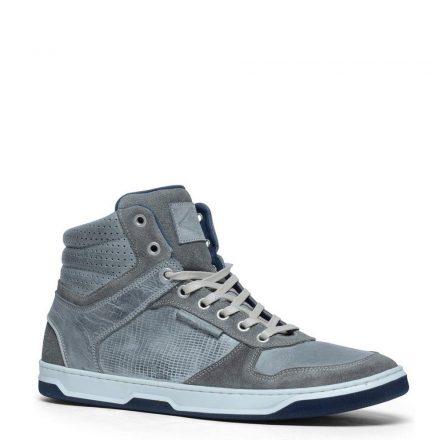 Manfield leren sneakers (grijs)