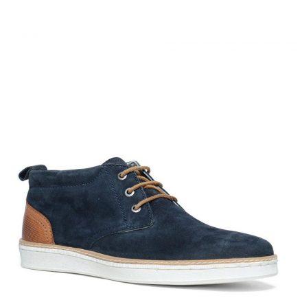 Manfield suède sneakers (blauw)