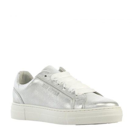 Hip leren sneakers meisjes (zilver)