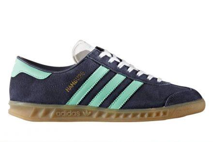 Adidas Hamburg Mignight Grey / Easy Green / Gum grau