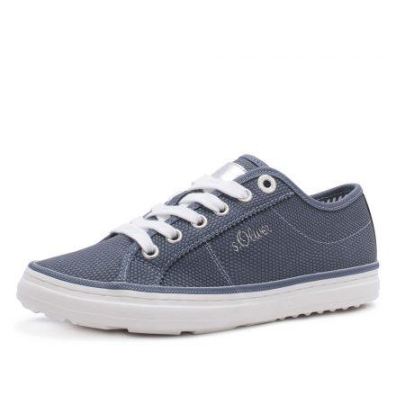 s.Oliver 23640 blauwe dames sneaker