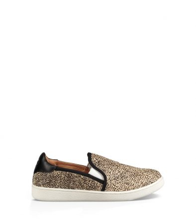 UGG Cas Exotic Dames Black / Tan Dotted