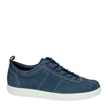 Ecco Soft 1 nubuck sneakers (blauw)