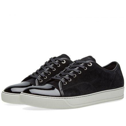 Lanvin Patent Toe Cap Sneaker (Black)