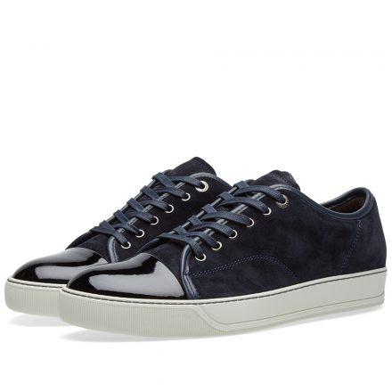 Lanvin Patent Toe Cap Sneaker (Blue)