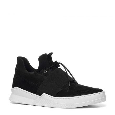 Manfield nubuck sneakers (zwart)