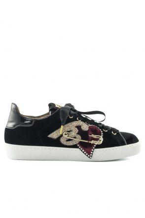 Hogl Casual sneaker fluweel (Zwart)